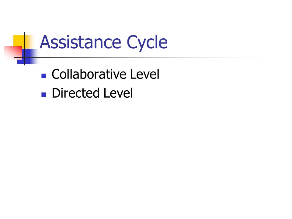 Assistance Cycle Collaborative Level Directed Level