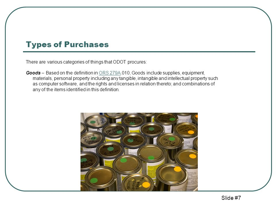 Slide #28 Delegated Authority for ODOT Branches and Regions This is important for ODOT staff in Branches and Regions, because it means: Authorized staff in ODOT Branches or Regions can conduct: Small Procurements not exceeding $5,000 for goods, trade services, public improvements, and public works projects on behalf of the Branch or Region (with some exceptions).