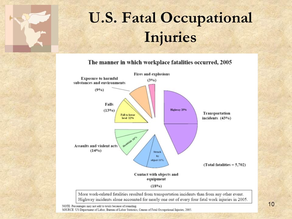 10 U.S. Fatal Occupational Injuries