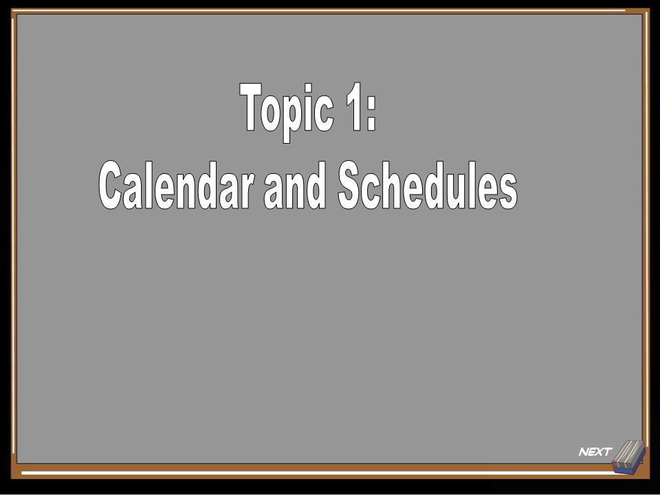 Topic 1 Question for 15 Points What reasons are allowed to make a calendar change? Show Answer