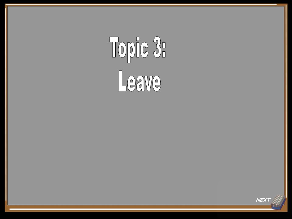 Topic 1 Question for 20 Points Employees should take into account these three things when completing their employment calendar.