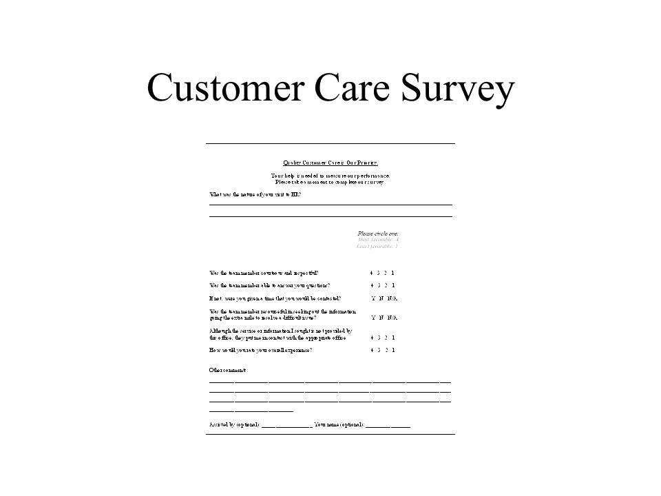 Customer Care Survey