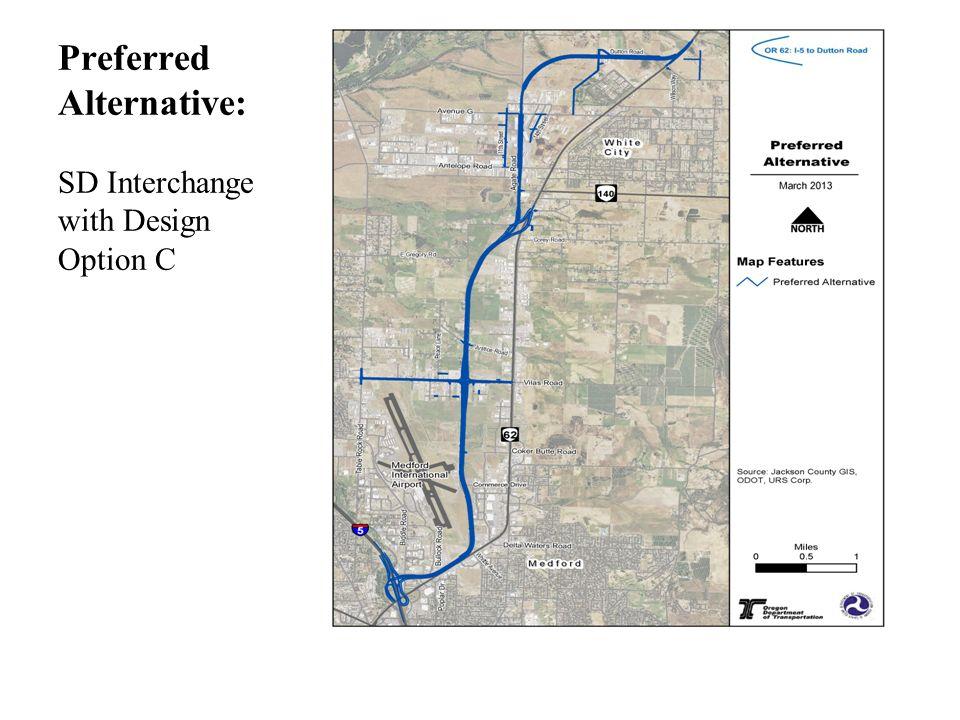 Preferred Alternative: SD Interchange with Design Option C