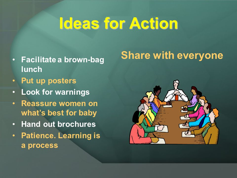 Ideas for Action Share with everyone