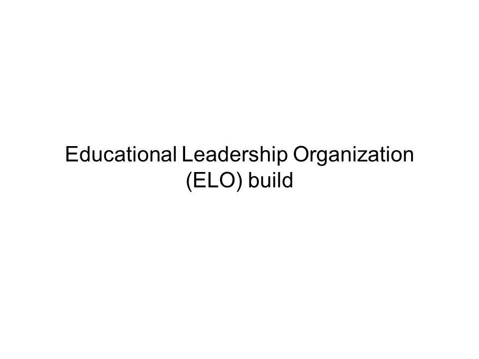 Page 22 Educational Leadership Organization (ELO) build