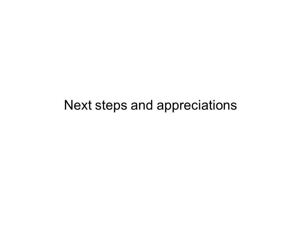 Page 49 Next steps and appreciations