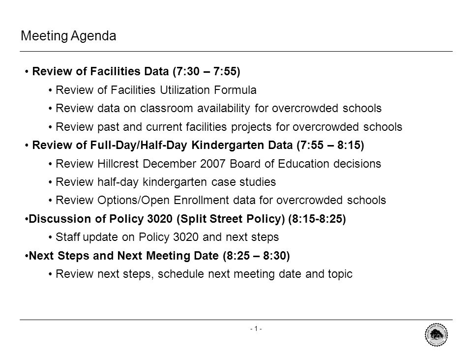 - 0 - Special Committee on School Admissions, Attendance and Boundaries Overcrowded Schools August 29, 2008