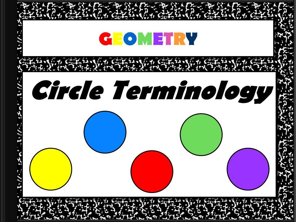 GEOMETRYGEOMETRY Circle Terminology