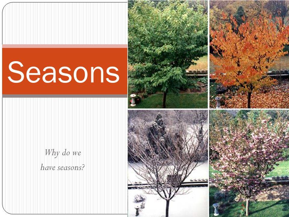 Why do we have seasons Seasons