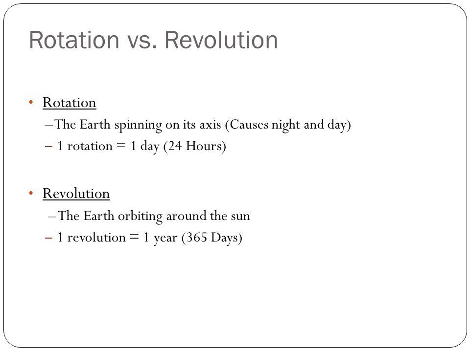Rotation vs.