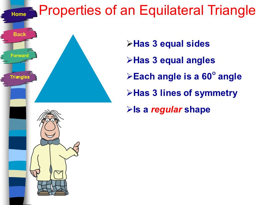 How many lines of symmetry does an equilateral triangle have? 1 23
