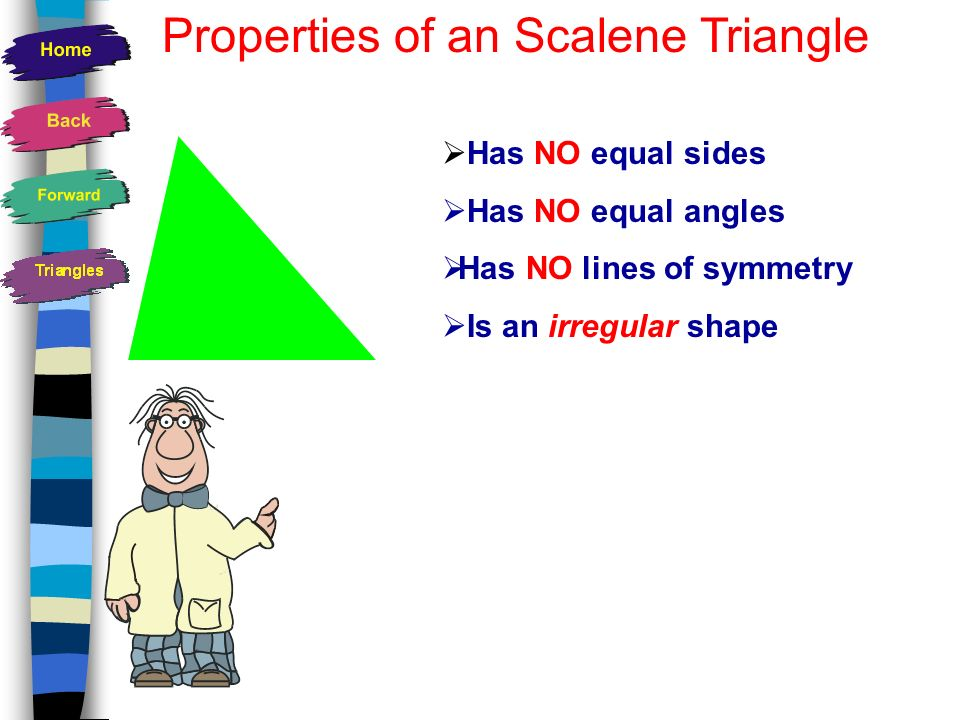 None! How many lines of symmetry does a scalene triangle have?