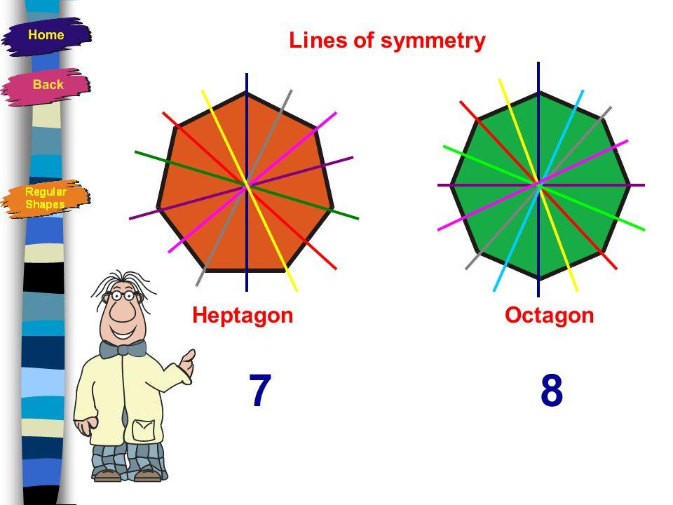 Lines of symmetry HeptagonOctagon 78