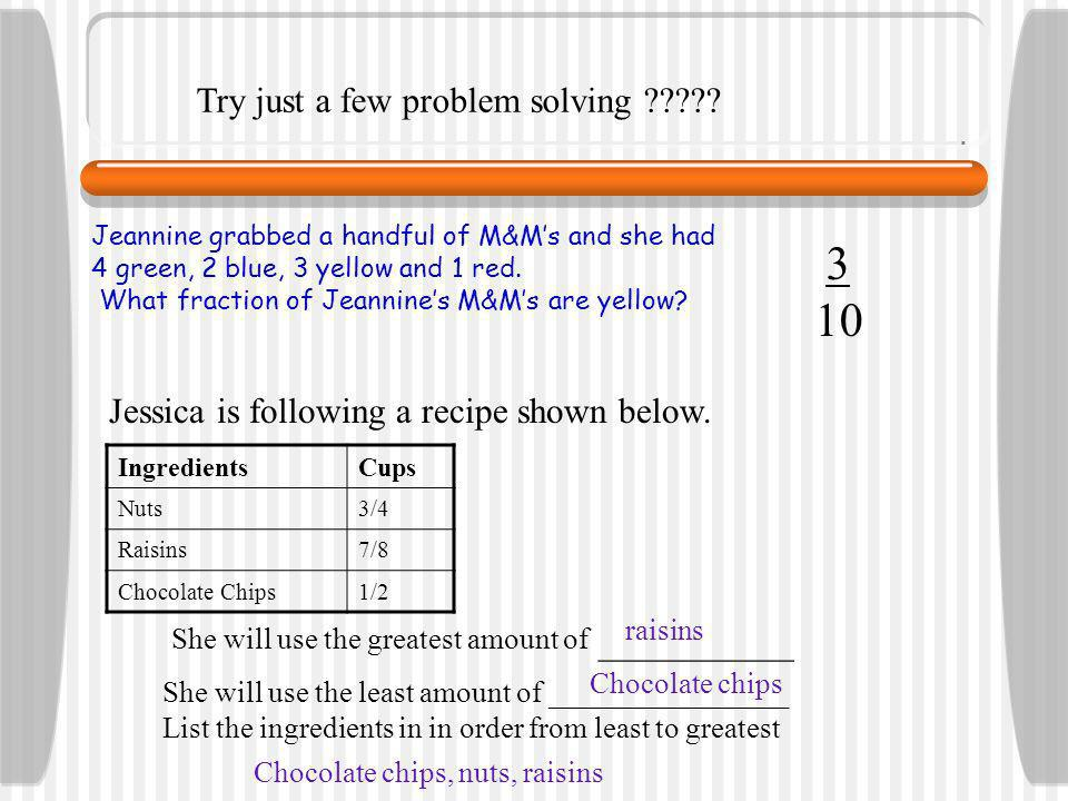 How to problem solve with FRACTIONS!!!.