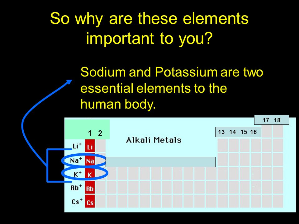 Importance of Potassium and Sodium PotassiumPotassium is essential to muscle and nerve function and keeps the bodys fluids in balance.