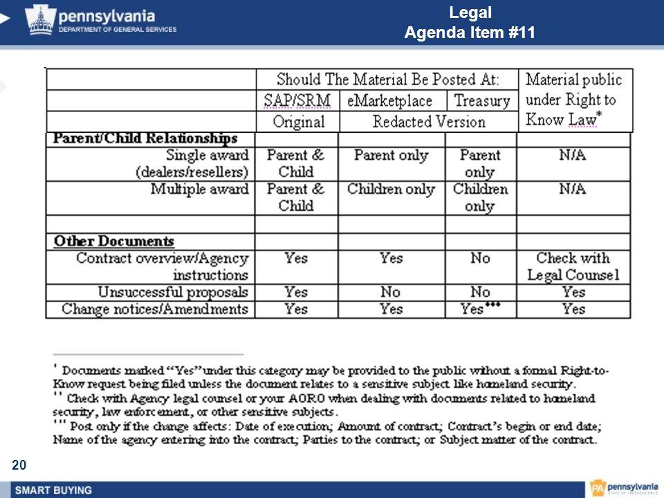 20 Legal Agenda Item #11