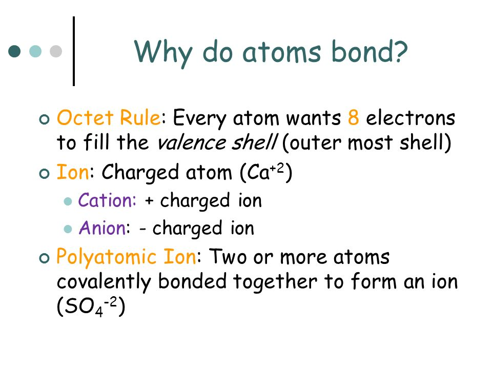 What are Ionic, Covalent and Metallic Bonds.