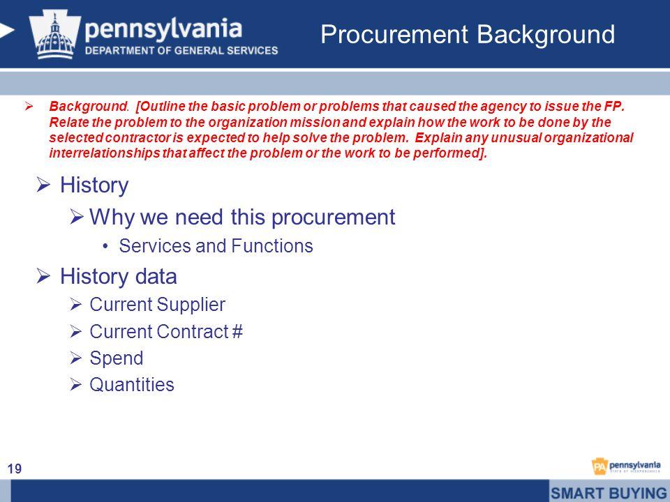 Procurement Background Background.