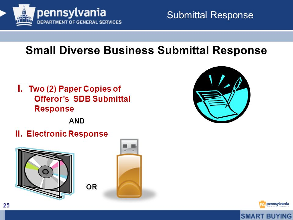 Small Diverse Business Submittal Response I.