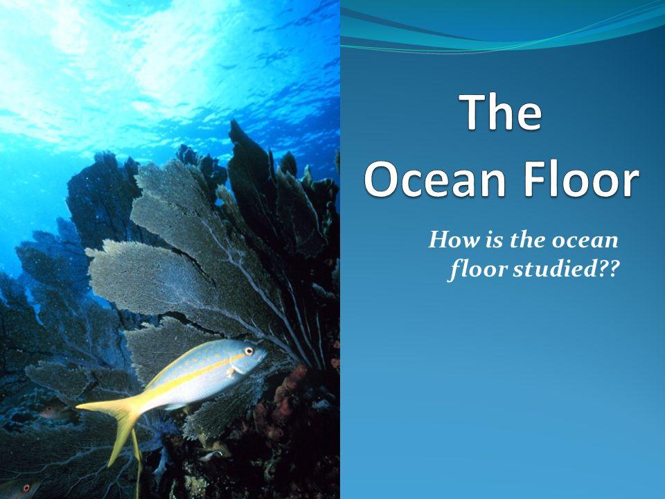 How is the ocean floor studied??