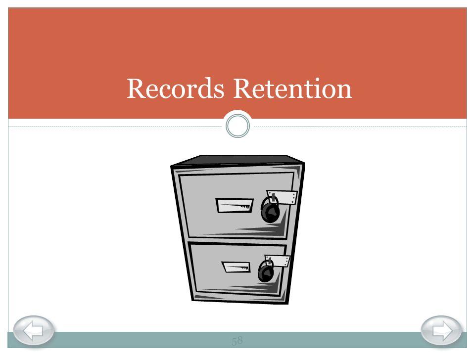Records Retention 58
