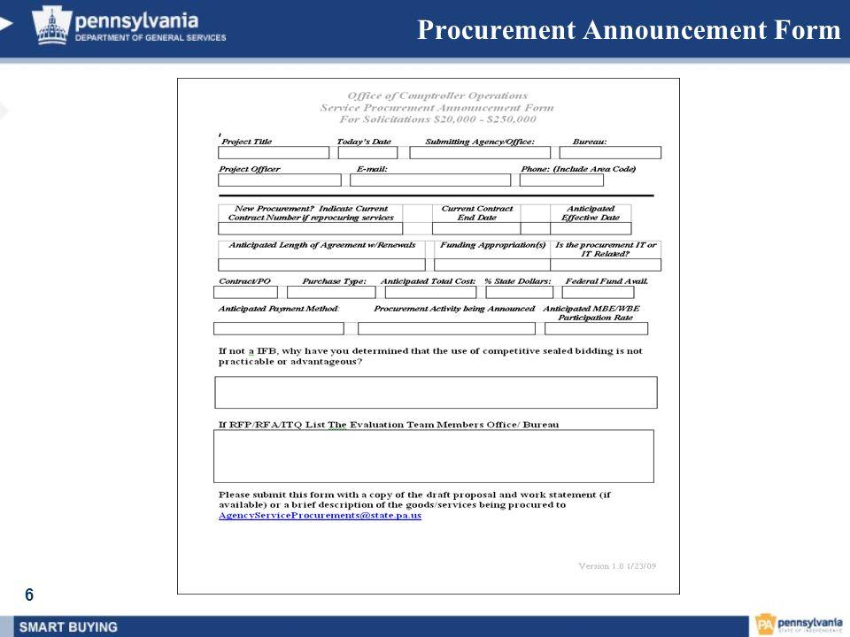6 Procurement Announcement Form