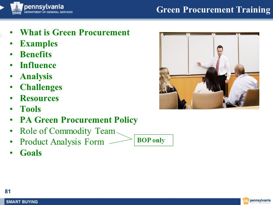 81 Green Procurement Training What is Green Procurement Examples Benefits Influence Analysis Challenges Resources Tools PA Green Procurement Policy Ro