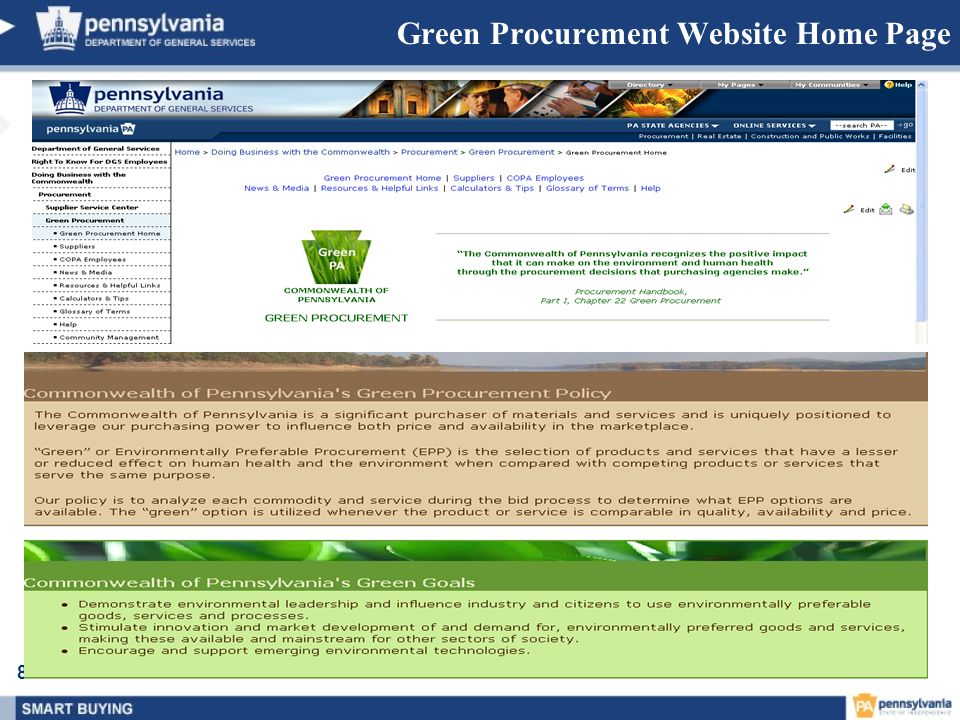 83 Green Procurement Website Home Page