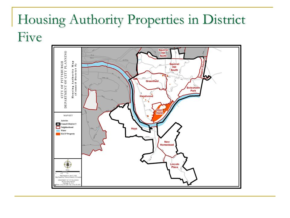 Housing Authority Properties in District Five
