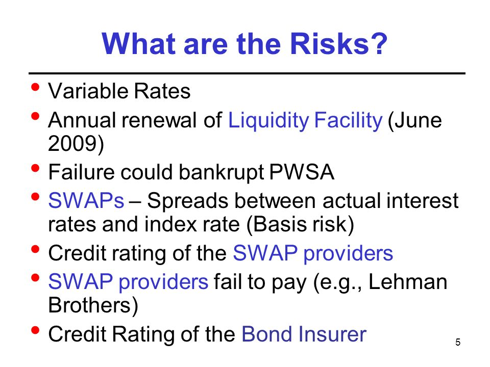 5 What are the Risks.