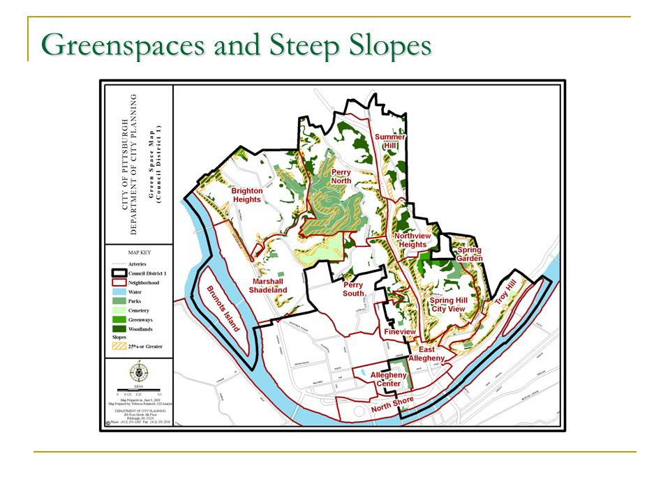 Greenspaces and Steep Slopes