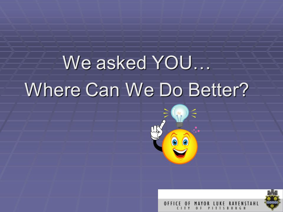 We asked YOU… Where Can We Do Better?