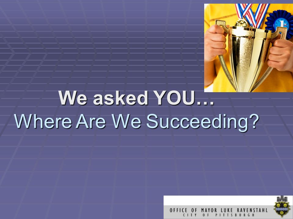 We asked YOU… Where Are We Succeeding?