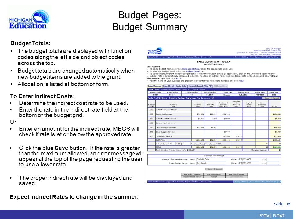 PrevNext | Slide 35 Email questions to MDE: Megs@michigan.gov