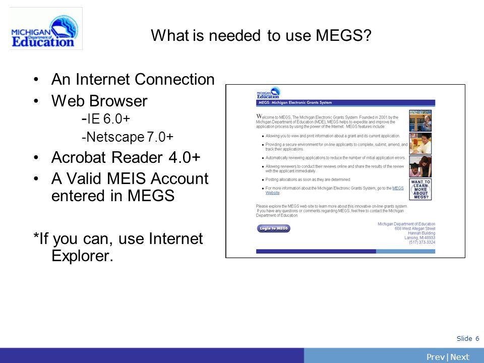 PrevNext | Slide 17 General Information