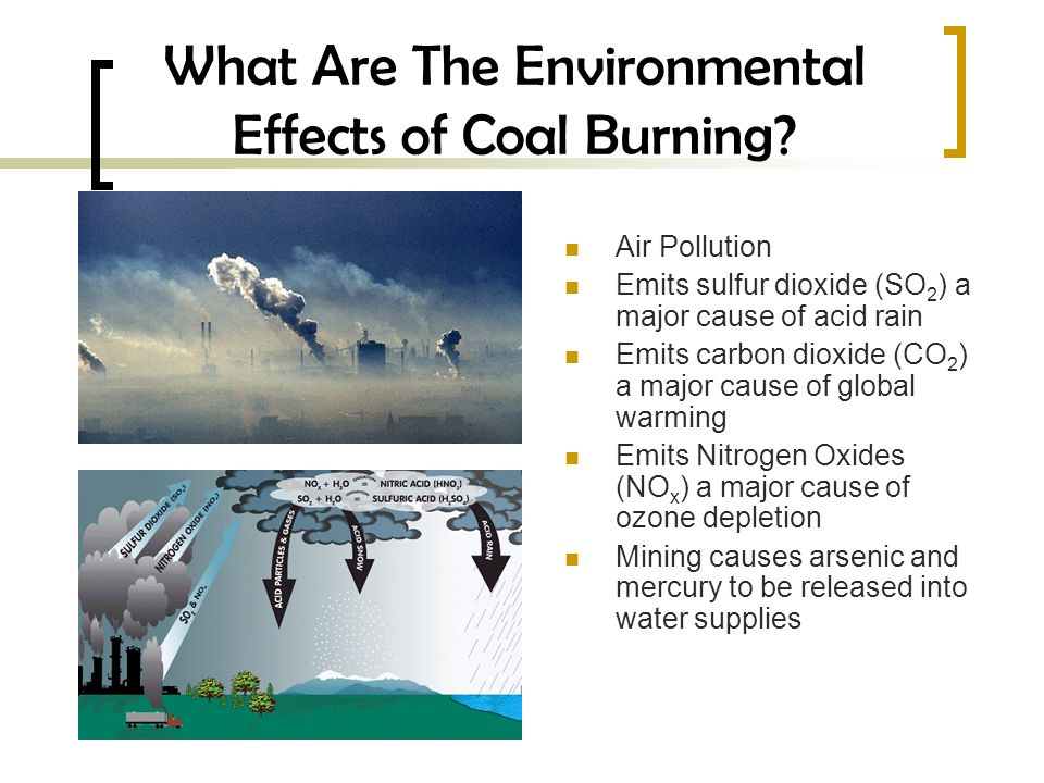 What Are The Environmental Effects of Coal Burning.