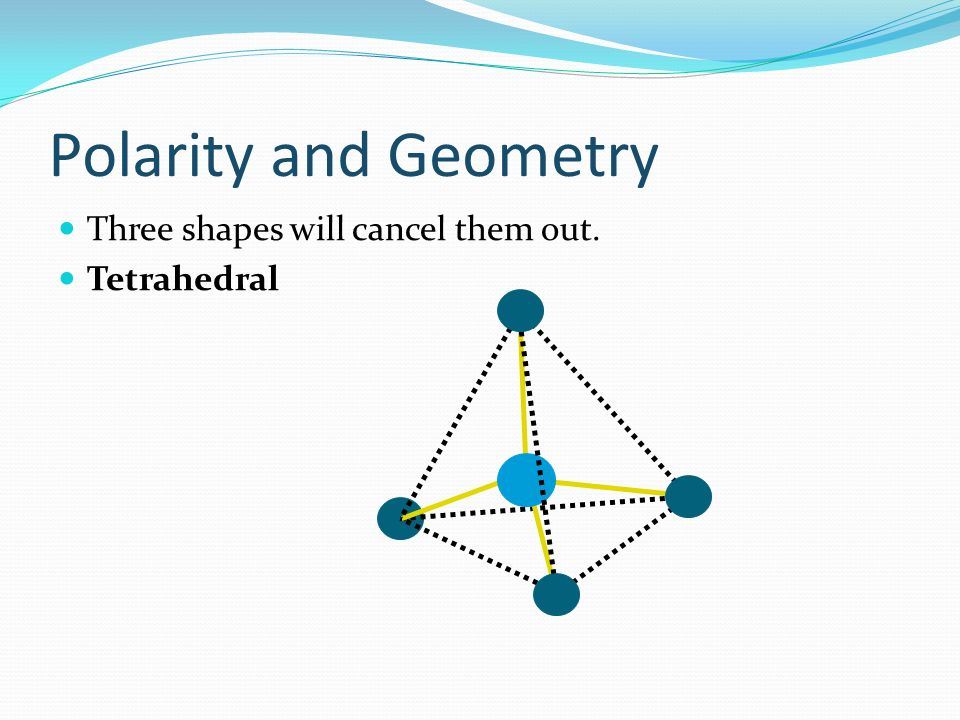Polarity and Geometry Three shapes will cancel them out. Tetrahedral