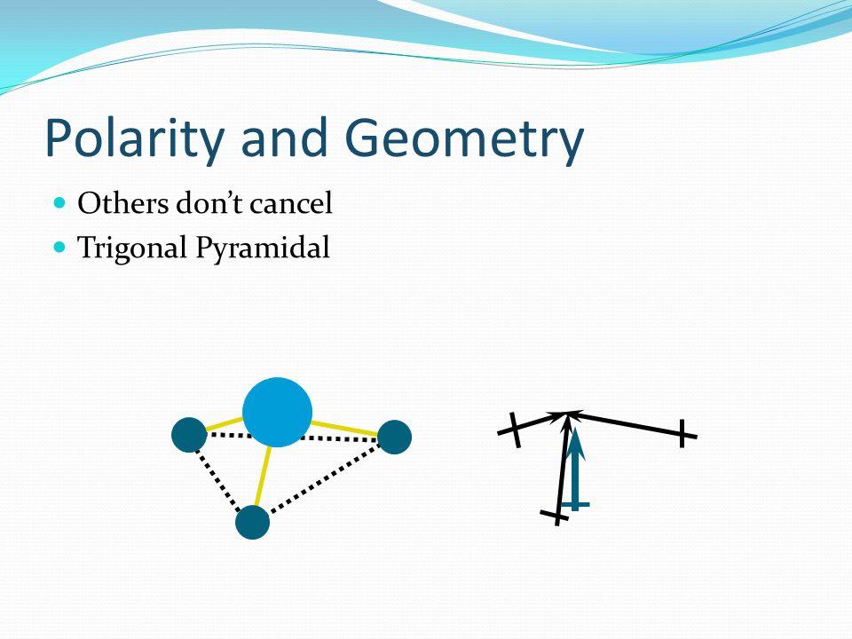 Polarity and Geometry Others dont cancel Trigonal Pyramidal