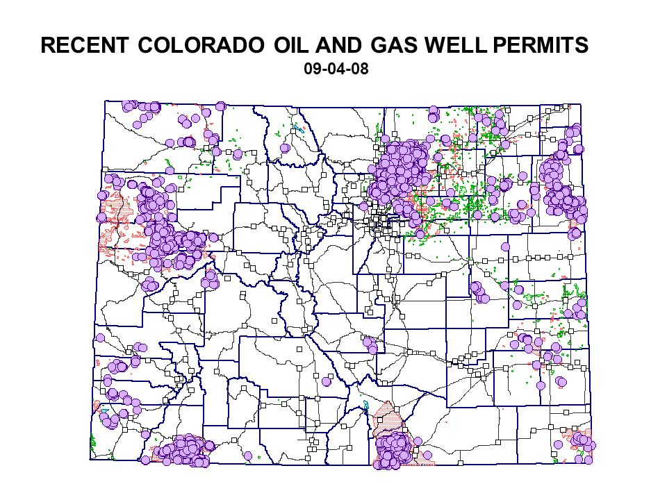 RECENT COLORADO OIL AND GAS WELL PERMITS 09-04-08