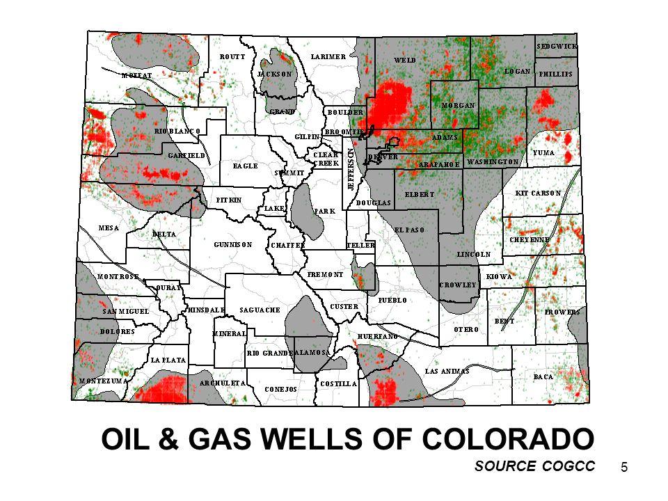 5 OIL & GAS WELLS OF COLORADO SOURCE COGCC