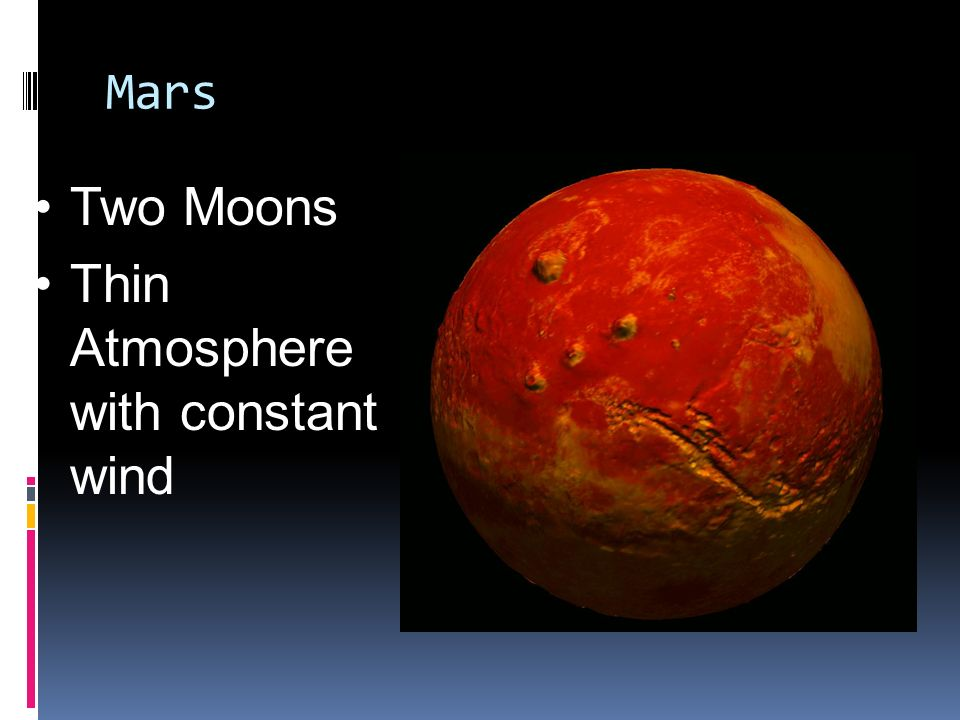Mars Two Moons Thin Atmosphere with constant wind