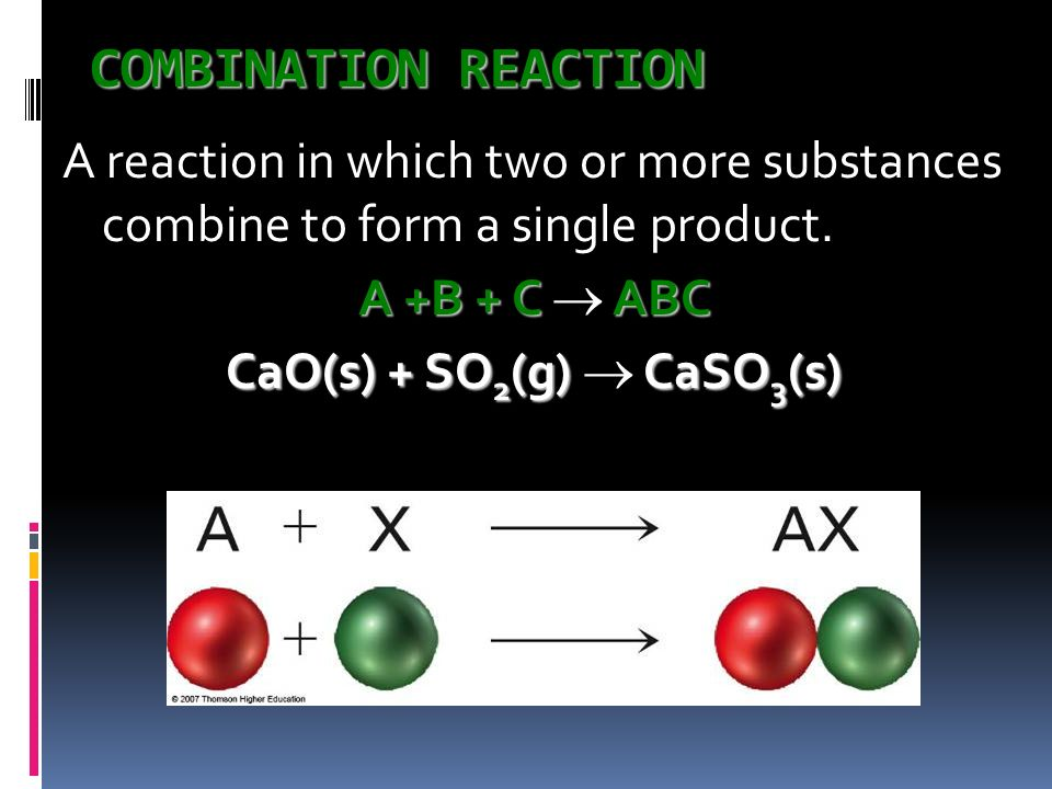 Types of Reactions There are millions of reactions. Cant remember them all Fall into several categories. We will learn 5 major types. Will be able to