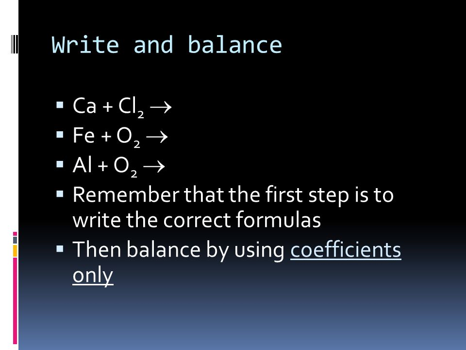 COMBINATION REACTION A reaction in which two or more substances combine to form a single product. A +B + C ABC CaO(s) + SO 2 (g) CaSO 3 (s)
