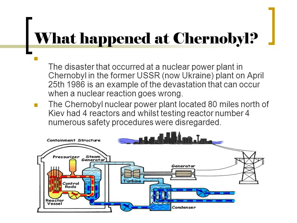What happened at Chernobyl.
