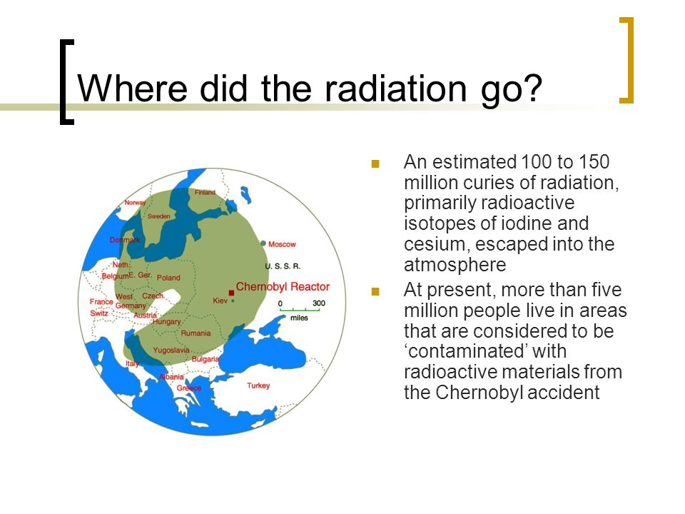 Where did the radiation go.
