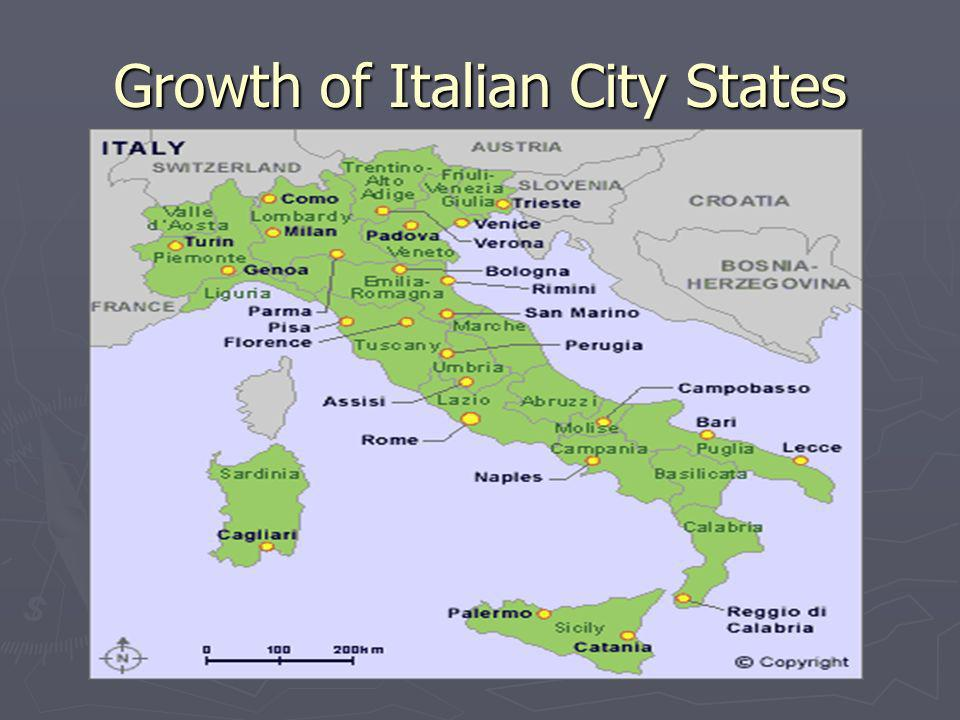 Growth of Italian City States