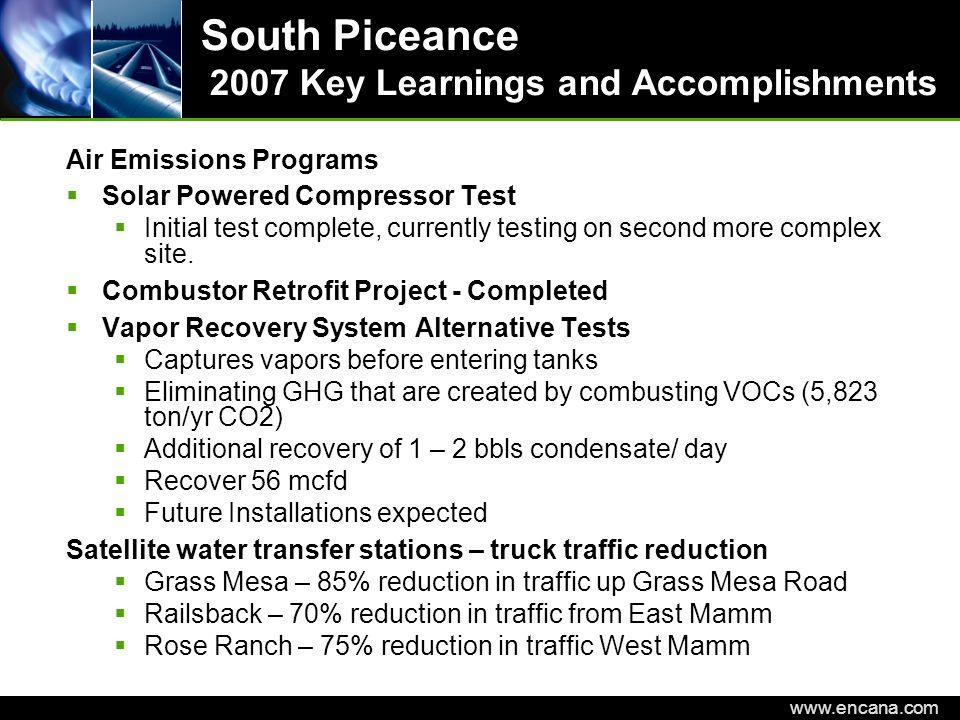 EnCana Corporation www.encana.com North Piceance Rig Count 5 Rigs