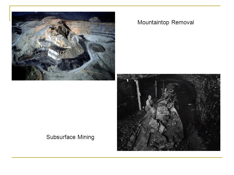 Mountaintop Removal Subsurface Mining