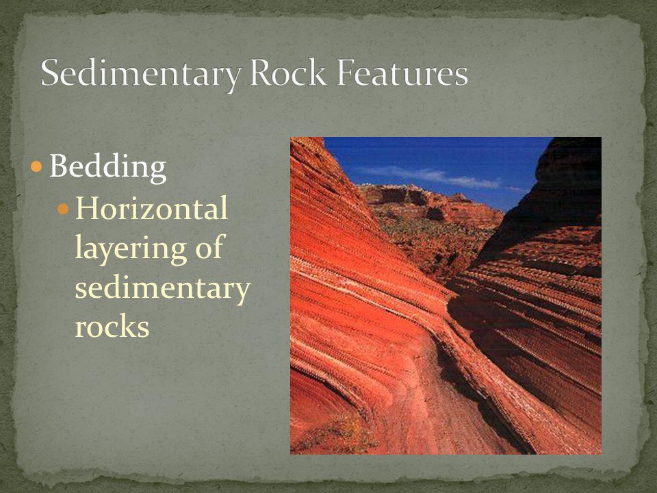 Bedding Horizontal layering of sedimentary rocks