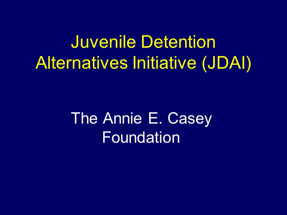 Our Vision: Youth involved in the juvenile justice system will have opportunities to develop into healthy, productive adults...